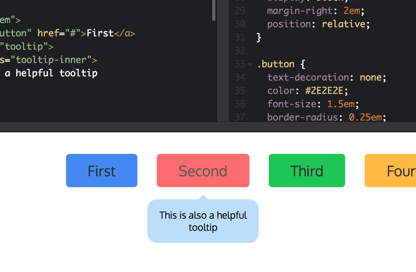 You might not need Javascript for that: Tooltips - Chris